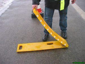 Expérimentation d'un dispositif de bandes de prévention de chantier